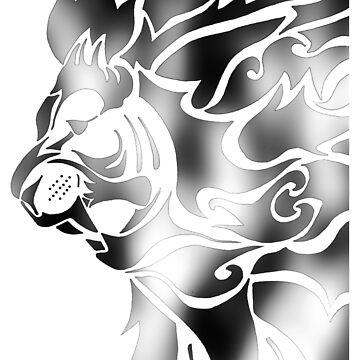 The Lions Roar - Black Silver by CassieGannon