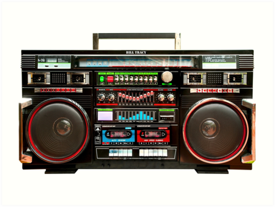 huge boombox ghetto blaster art prints by btphoto redbubble. Black Bedroom Furniture Sets. Home Design Ideas