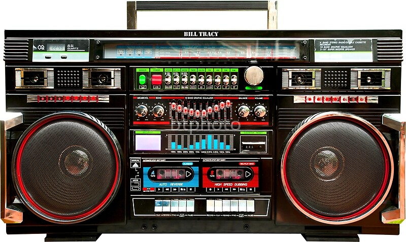 Quot Huge Boombox Ghetto Blaster Quot By Btphoto Redbubble