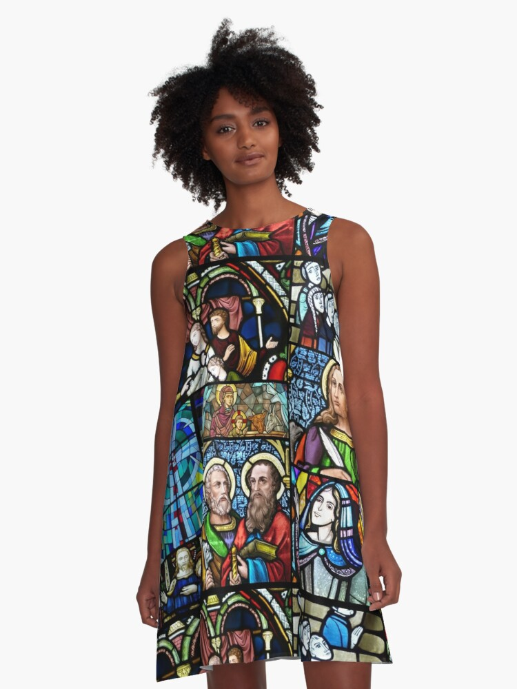 Stained glass collage 1. A-Line Dress Front