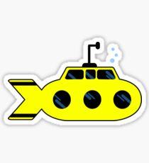 Ride In A Yellow Submarine Sticker