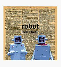 Flight of the Robots  Photographic Print