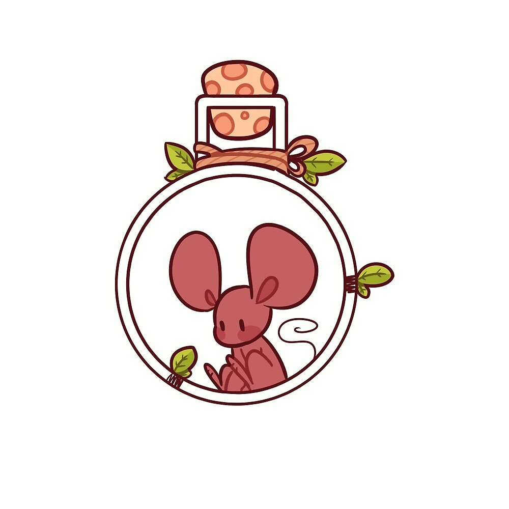 Mouse in a Potion Bottle by ArtisticEternal