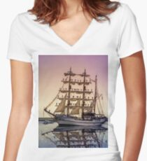 Sail Boston -Guayas Women's Fitted V-Neck T-Shirt