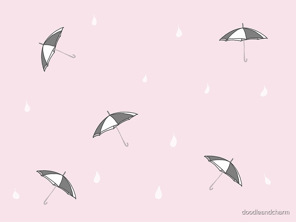 Raindrops are falling pink by doodleandcharm