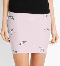 Raindrops are falling pink Mini Skirt