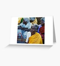 The dignity of older women Greeting Card