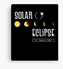 Total Solar Eclipse - Sonnenfinsternis - 21. August 2017 Canvas Print