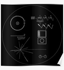 The Voyager Golden Record (White) Poster
