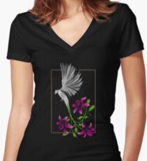 Wydah Lily Women's Fitted V-Neck T-Shirt