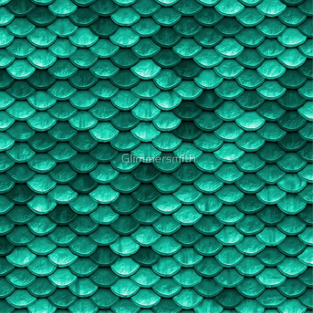 Beautiful emerald green mermaid fish Scales by Glimmersmith