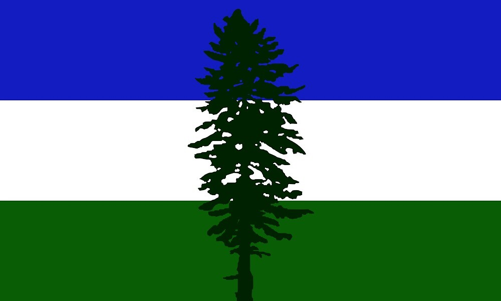 Flag of Cascadia  by ofmany
