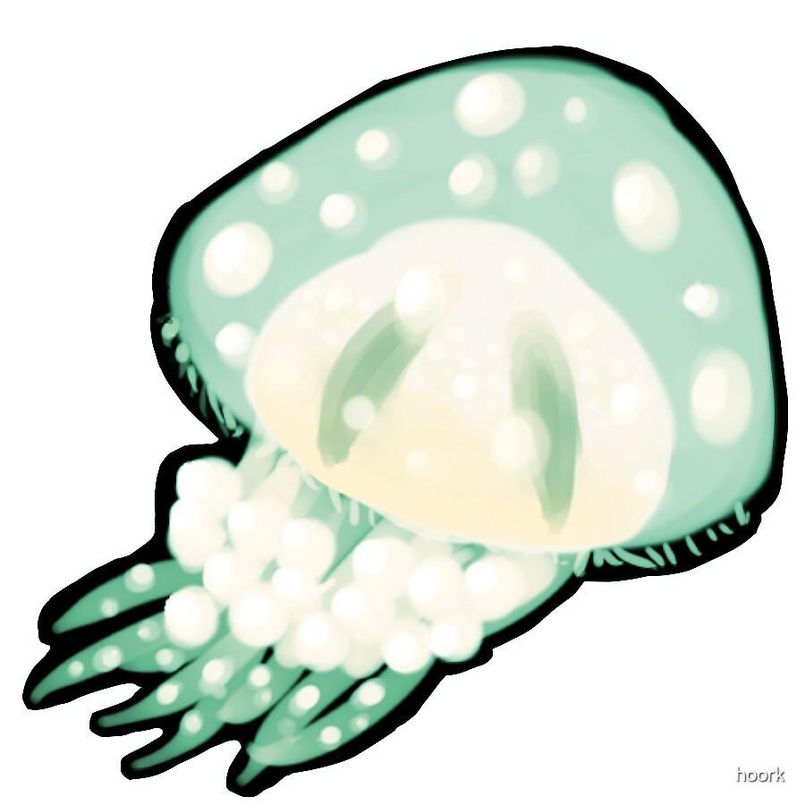 Jellyfish - Teal by hoork