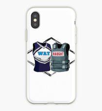 Wayhaught Vests - Blue and Grey iPhone Case