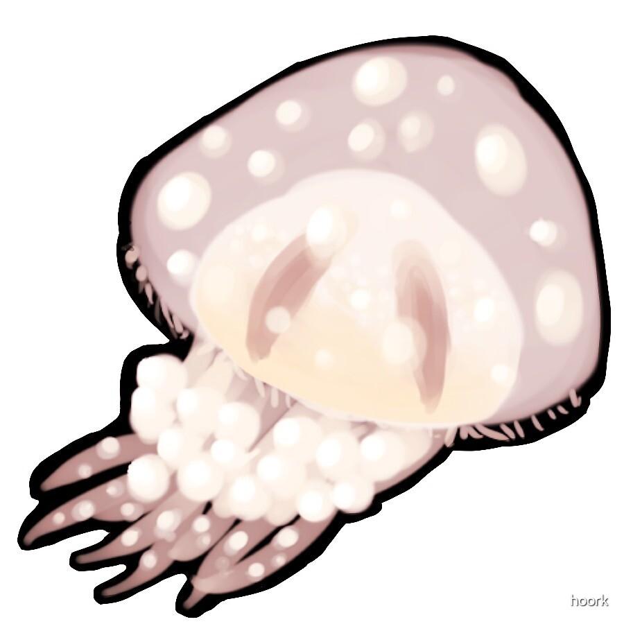 Jellyfish - Pastel Pink by hoork