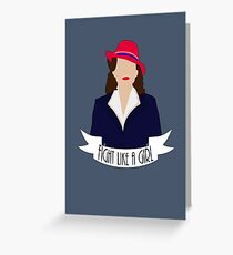 "P. Carter: ""Fight like a Girl."" Greeting Card"