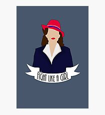 """P. Carter: """"Fight like a Girl."""" Photographic Print"""