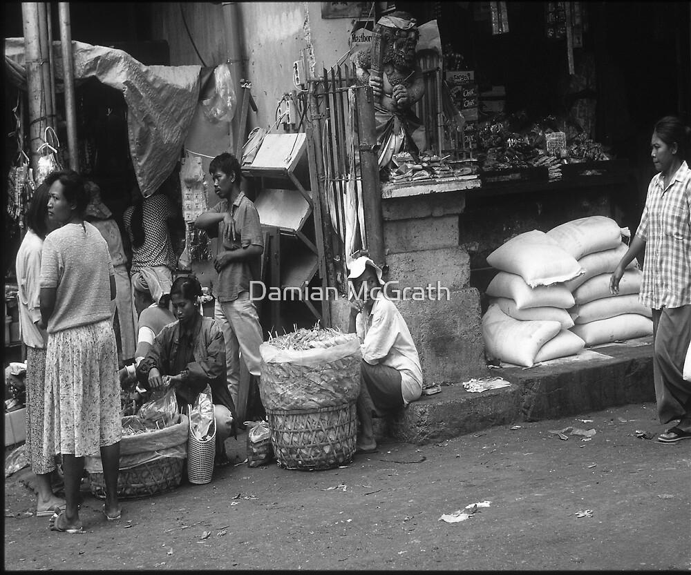 Denparsar Bali Street Life Women Waiting by Damian McGrath