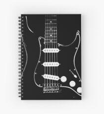 black glowstrings  Spiral Notebook