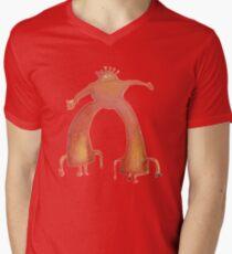 Die flammenden Lippen - Pink Robot T-Shirt mit V-Ausschnitt