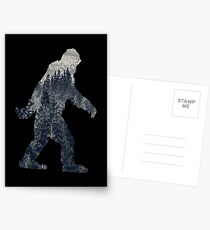 A Sasquatch Silhouette in The North Postcards