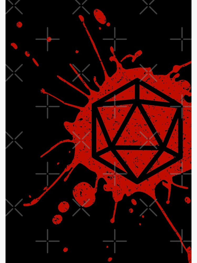 d20 Splatter by ninthstreet