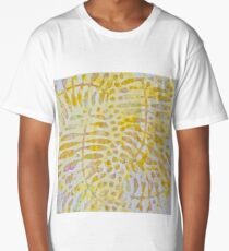 Autumn Fern Leaves Abstract Long T-Shirt