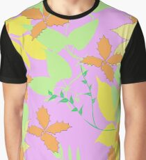 Falling Leaves in Soft Pastel Colours Graphic T-Shirt