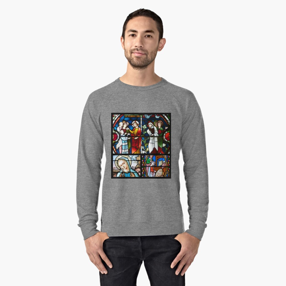 Stained glass collage 2. Lightweight Sweatshirt Front