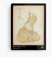 Vintage Print Image of Block Island - 1914 Metal Print
