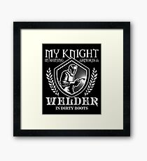 My Knight And Shining Armour Is A Welder Shirt Framed Print