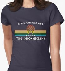 Thank the Phoenicians - Disney's Spaceship Earth - EPCOT Women's Fitted T-Shirt