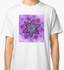 Purple mandala painting, mandala wall art, yoga gift  Classic T-Shirt