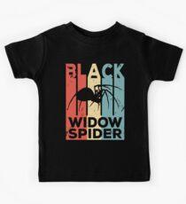 Black Widow Spider Vintage Retro Kids Tee