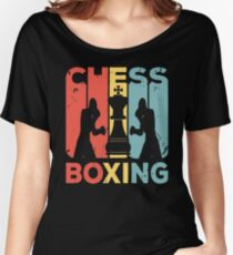 Chess Boxing Vintage Retro Women's Relaxed Fit T-Shirt