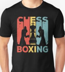 Camiseta unisex Ajedrez, boxeo, vendimia, retro