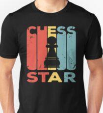 Chess Pawn Star Vintage Retro Unisex T-Shirt