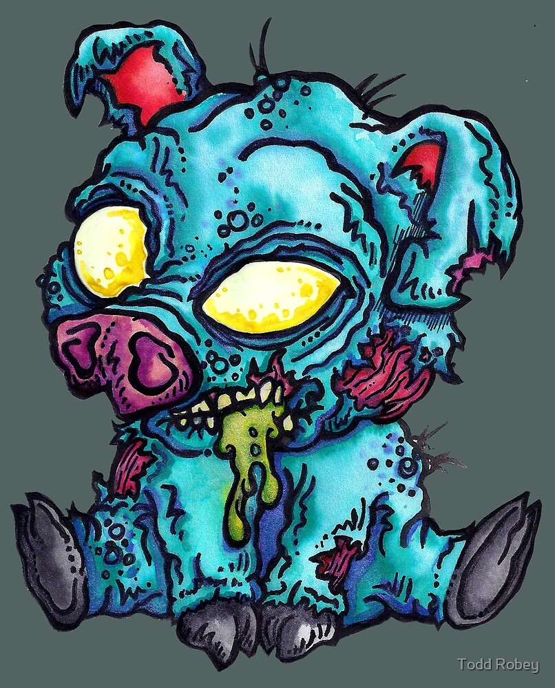 Zombie Piggy Pig by Todd Robey