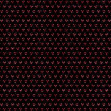 Trans Radiation Scarf - Burgundy on Black by GenderConcepts