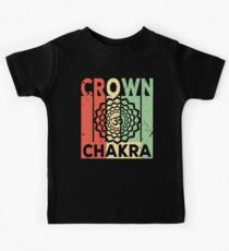 Yoga Crown Chakra Vintage Retro Kids Clothes