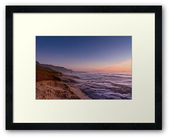 Sunset over Truman Track - Punakaiki by Alex Preiss