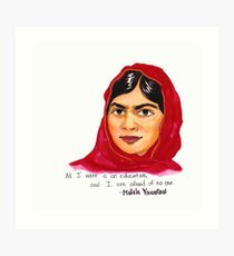 Malala Art Print