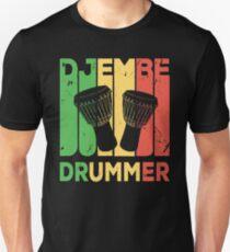 Djembe Drummer Vintage Retro  Unisex T-Shirt