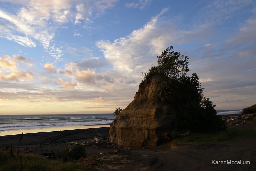 rock on the beach by KarenMccallum