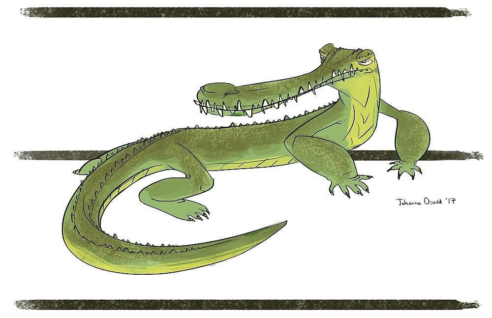 Gharial  by Johannimation