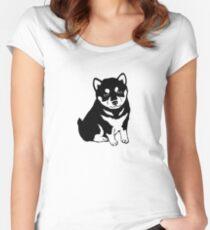 Shiba Inu (Pet Dog)  Women's Fitted Scoop T-Shirt
