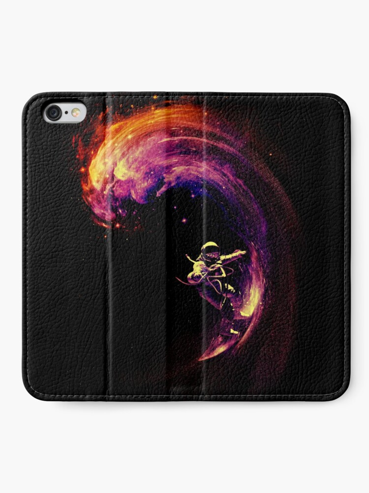 Alternate view of Space Surfing iPhone Wallet