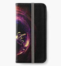 Surfen im Weltraum iPhone Flip-Case/Hülle/Klebefolie