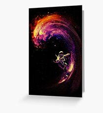 Space Surfing Greeting Card