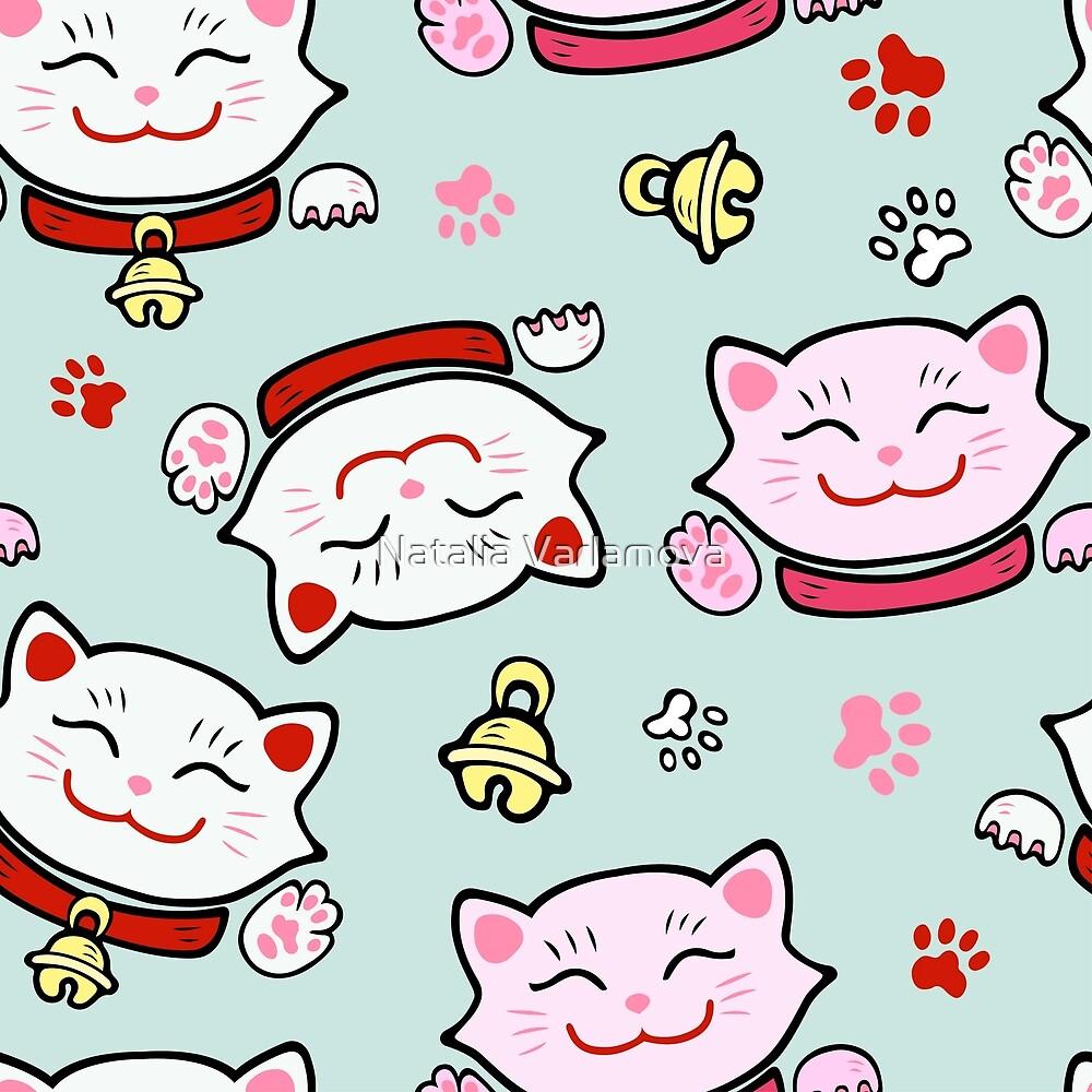 Pink Maneki Neko by Natalia Varlamova